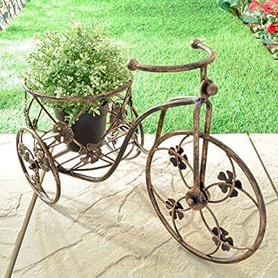 Triciclo macetero de flores soporte maceta para bicicleta Metal ...