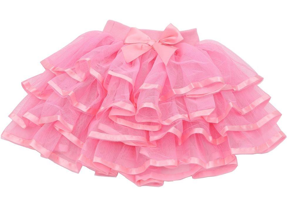 Tortoise & Rabbit Little Girls and Big Girls Tulle Tutu Skirt (2T-3T, Pink)
