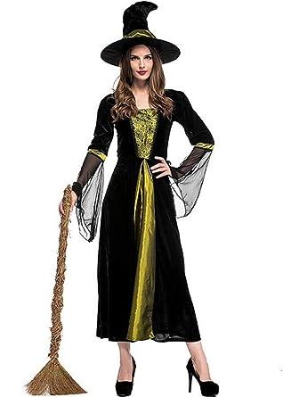 de42f4075f5 Amazon.com: ZQY Women's Witch Costume,Deluxe Vampire Dress ...