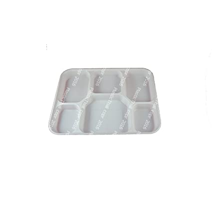 Amazon.com: PlasticThali - Six Compartment white Plastic Plate (FDA ...