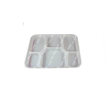 PlasticThali - Six Compartment white Plastic Plate (FDA approved Virgin Plastic)  sc 1 st  Amazon.com & Amazon.com: PlasticThali - Six Compartment white Plastic Plate (FDA ...