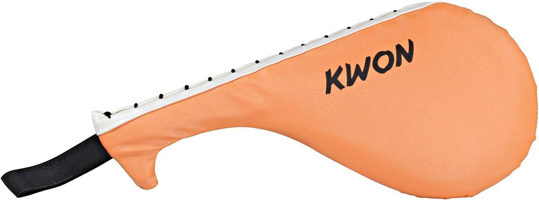 Kwon/® Single Hand Mitt Ultra Strong Pratze Kunstleder Schlagpolster orange