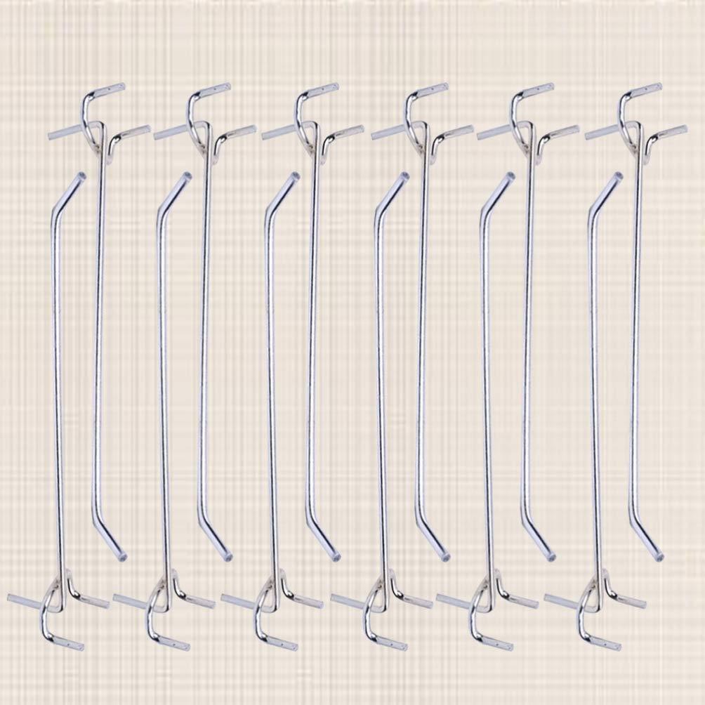 15 x 2,5 x 3 cm DOITOOL 40 piezas Ganchos para tableros con agujeros de Metal ganchos para estanter/ías y organizador de garaje gancho de colgar accesorios pegboard tableros de clavijas