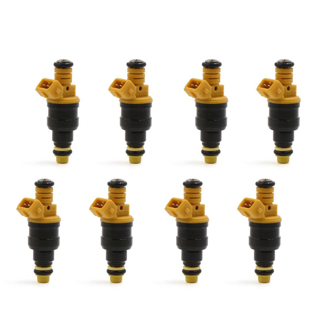 uxcell 8pcs 215cc 4 Holes Fuel Injectors for Ford 4.6 5.0 5.4 5.8 0280150943 0280150556 a17011200ux1178