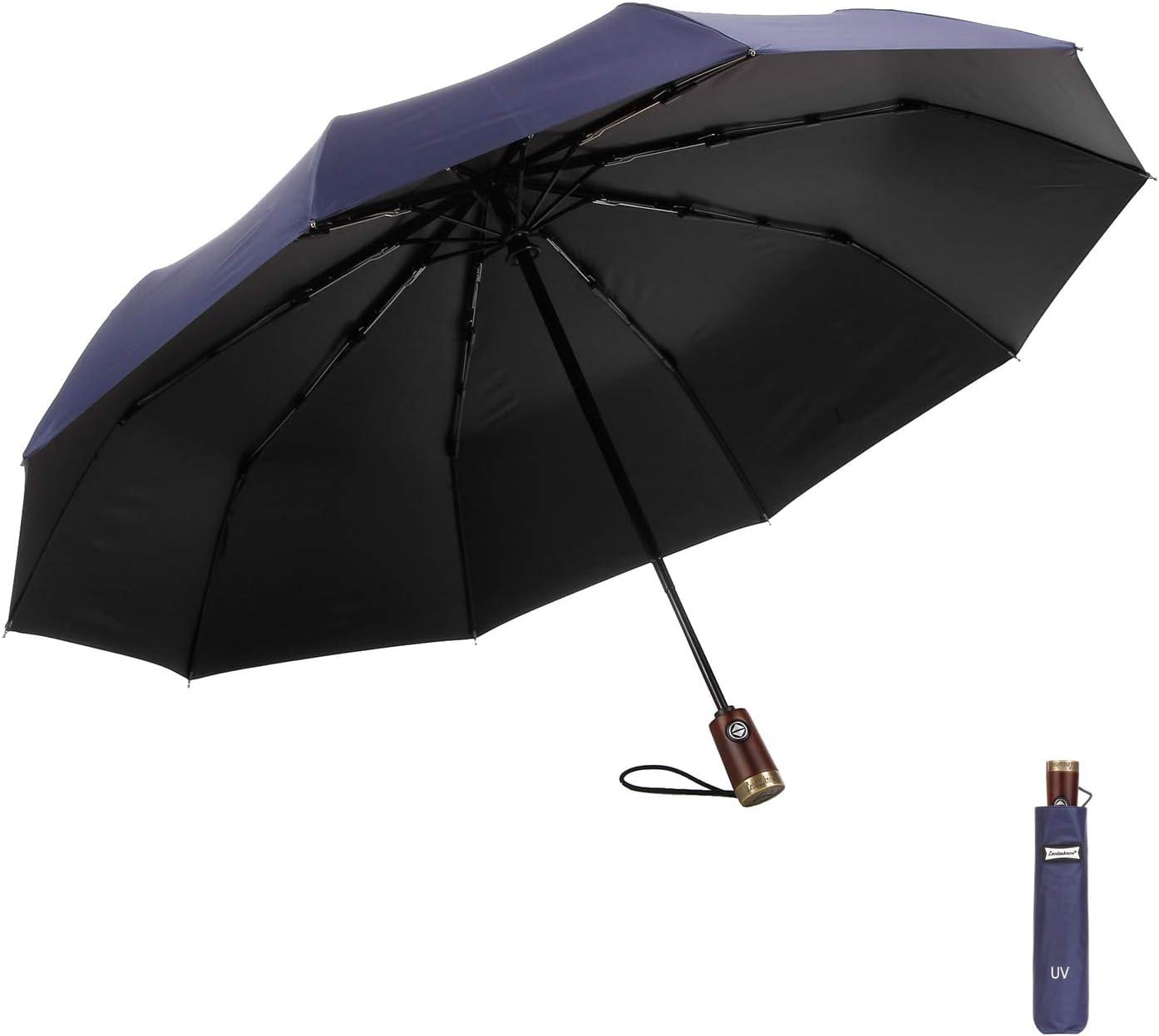 Pioggia PJFGNMJJK Ombrello Pieghevole Antivento Reversibile Protezione Solare Supporto Automatico Doppia Protezione UV Uomo E Donna Ombrello Reversibile