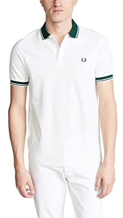 Fred Perry Polo Uomo Contrast Rib Pique M4567 Panna: Amazon.es ...