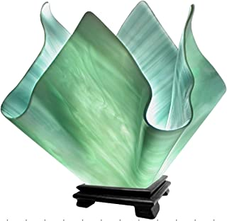 product image for Jezebel Radiance Large Flame Seafoam Green Vase Lamp
