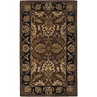 Safavieh Classic Collection CL239C Handmade Traditional Oriental Rust and Black Wool Area Rug (3 x 5)