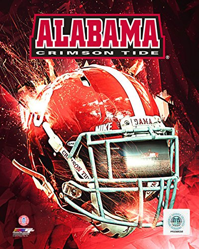 Size: 8 x 10 Alabama Crimson Tide Football Helmet Composite Photo