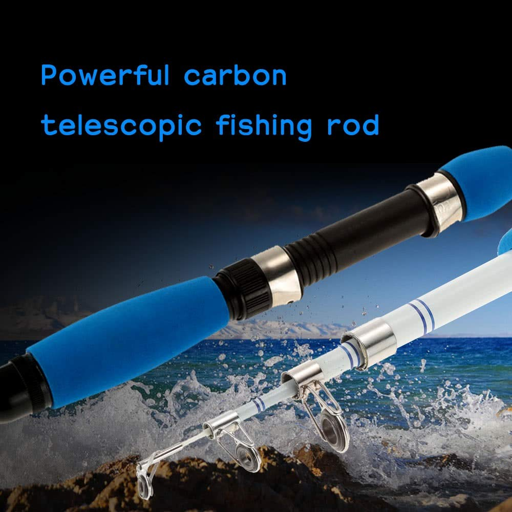 Ca/ñas de Pescar 1.0 M // 1.6 M // 1.8 M Ca/ña De Pescar Telesc/ópica Profesional De Carbono Ultraligera Superdura Poderosa Ca/ña De Pescar De Fundici/ón Muy Sensible Ni/ños Y Adultos  Barco Lago Surf Daiw