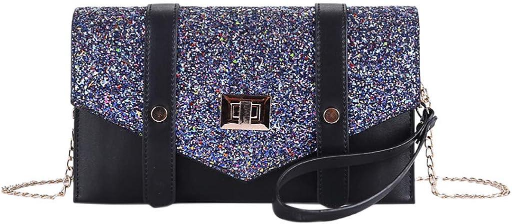 Women Messenger Bag Fashion New Sequins Shoulder Bag Crossbody Bag Envelope Bag Wild Handbag