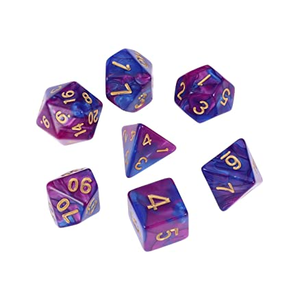 EDUCATIONAL ROLE PLAY D/&D GEOMETRIC DICE TWENTY SIDED DICE SETS D20 NEW