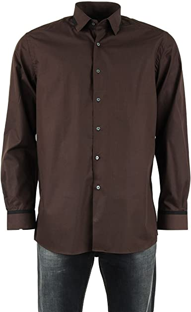 Pierre Cardin Camisa marrón Chocolate para Hombre Marrón marrón: Amazon.es: Ropa y accesorios