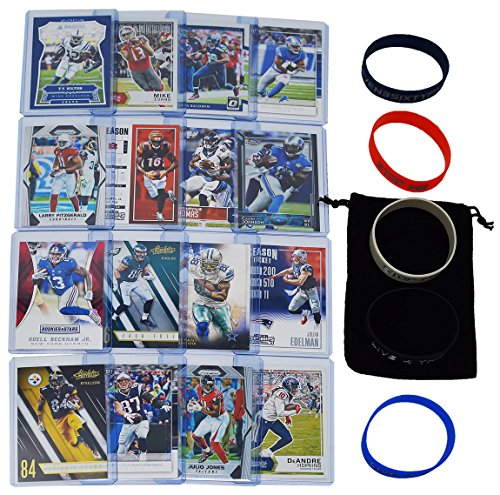 Jones Football Thomas Nfl (Football Cards Fantasy WRs: Odell Beckham, Antonio Brown, Julio Jones, Larry Fitzgerald, Rob Gronkowski, Julian Edelman, Dez Bryant, Thomas, Baldwin, Hopkins, Green, Johnson, Ertz, Hilton, Evans, Tate)