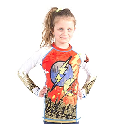 Fusion The Flash Crimson Comet Kids Rashguard - Long Sleeve