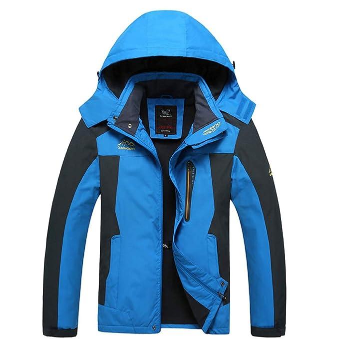 FCBDXN Hombres Montaña Jacket Transpirable Abrigos Chaquetas De Invierno Al Aire Libre Snowboarding Abrigo Abrigo De Montaña Senderismo: Amazon.es: Ropa y ...