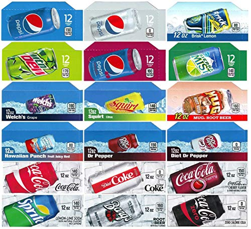 Vending-World - 18x Flavor Strip for 12 oz Cans Soda Pepsi Coke Vending, fits Dixie Narco, - Machine Labels Soda Vending