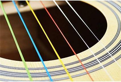 6 cuerdas de guitarra para guitarra acústica, accesorio de arco ...