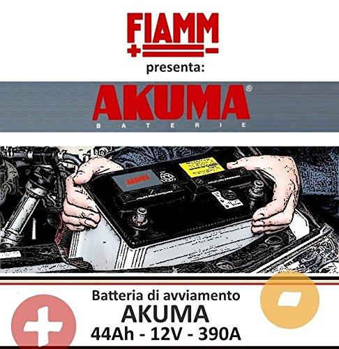 44 AH CUBETTO 12V 390A BATTERIA AUTO AKUMA = FIAMM Energy Technology s.p.a