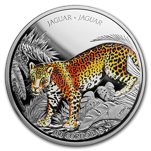 2018 NZ C?rdoba 1 oz Silver C$100 Wildlife of Nicaragua: Jaguar 1 OZ Brilliant Uncirculated