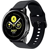 Samsung Galaxy Gear Watch Active/Active 2 40mm /44mm Replacement Strap Band for Watch Strap Watchband Wristband Smartwatch Bracelet (Black)