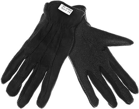 Guantes de tela de algodón negro en palma PVC con micropuntos 8: Amazon.es: Bricolaje y herramientas