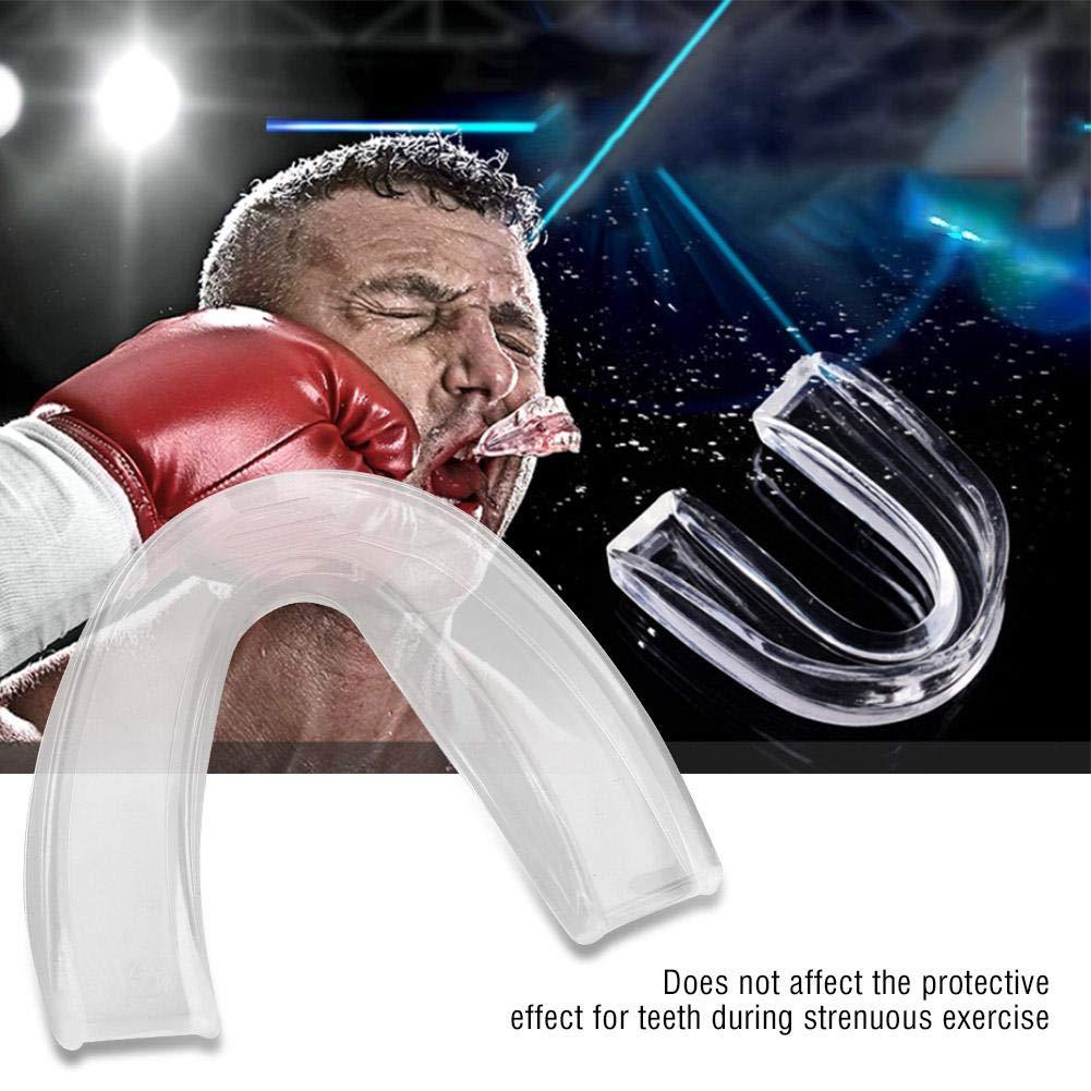 Protector Bucal de Dientes Protector de Boca Guardia de Dientes Mouth Guard Silicona Transparente Equipo de Seguridad Deportivo para Boxeo MMA Taekwondo Baloncesto Rugby Adulto Ni/ño