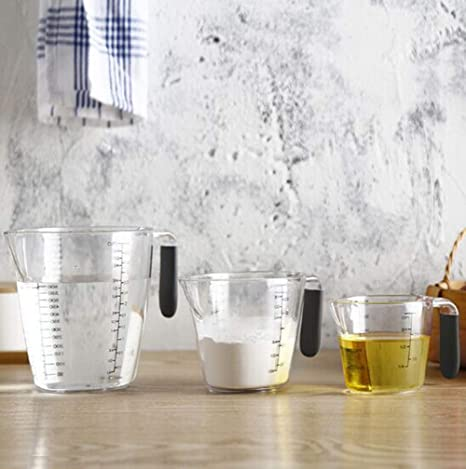 Apark Juego de jarra medidora, 3 pzs, Medidoras de plástico ...