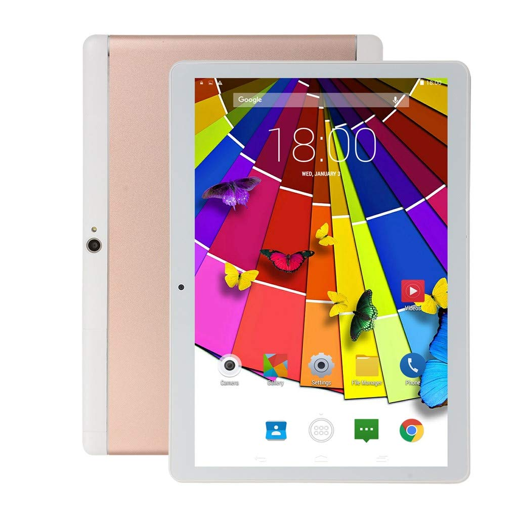 Portable Dual SIM 10.1 Inch Game Tablet PC Android 6.0 Quad Core 1G RAM+16GB ROM HD WiFi, Support Games,Skype,YouTube,Facebook, Twitter, etc (Pink)