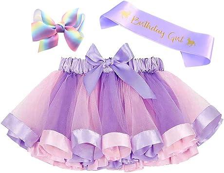 Amazon.com: Conjunto de disfraces de falda tutú arco iris ...
