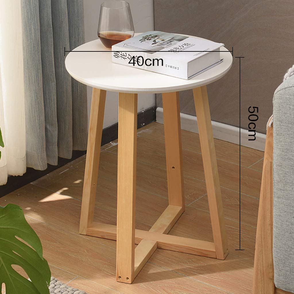 Garde Side Table, Simple Mini Bedroom Modern Home Small Coffee Table, Solid Wood Creative Casual Negotiation Small Table (Color : B, Size : 5060CM) by Garde