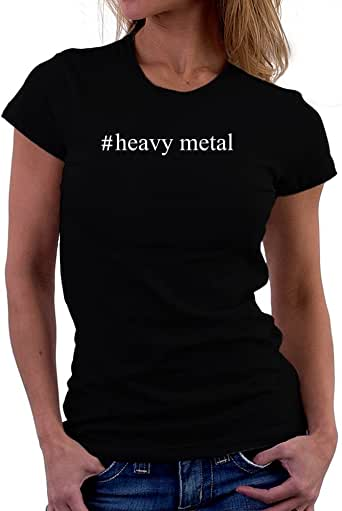 Teeburon Heavy Metal Hashtag Camiseta Mujer: Amazon.es: Ropa y accesorios