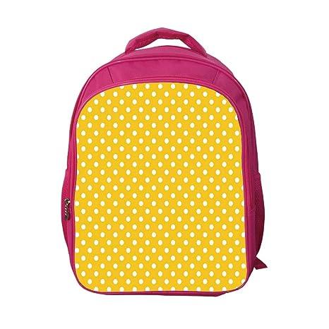 1c0832cc2efa iPrint School Bags Kid's Backpacks Customizable,Polka Dots,Traditional  Polka Dots Motif in Row
