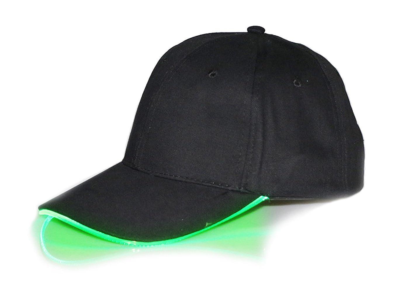 HONGZHESHEN LED Light Up Show Baseball Cap Mittens Gloves Set for Kids Single Commodity for Adult