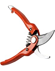 KSEIBI 143045 SK-5 Steel Blade Sharp Bypass Pruning Shears,Garden Hand Pruner, Ideal for S & M Size Hands, Cutting Up to 1 Inch