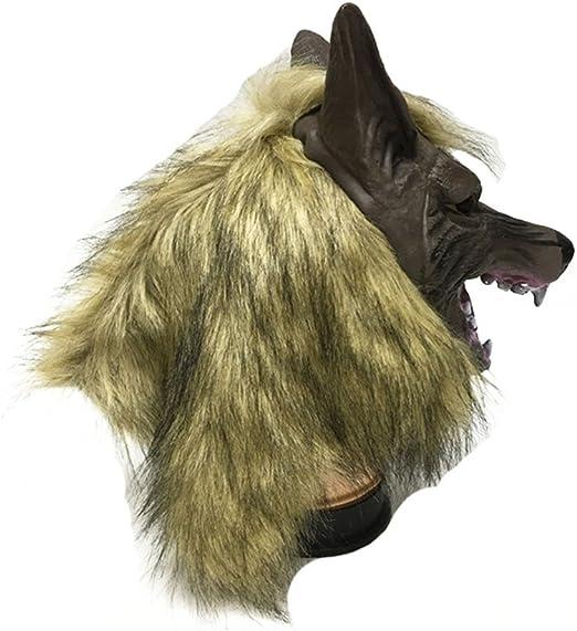 Monbedos Máscara de Cabeza de Lobo de látex, máscara de Cabeza de ...