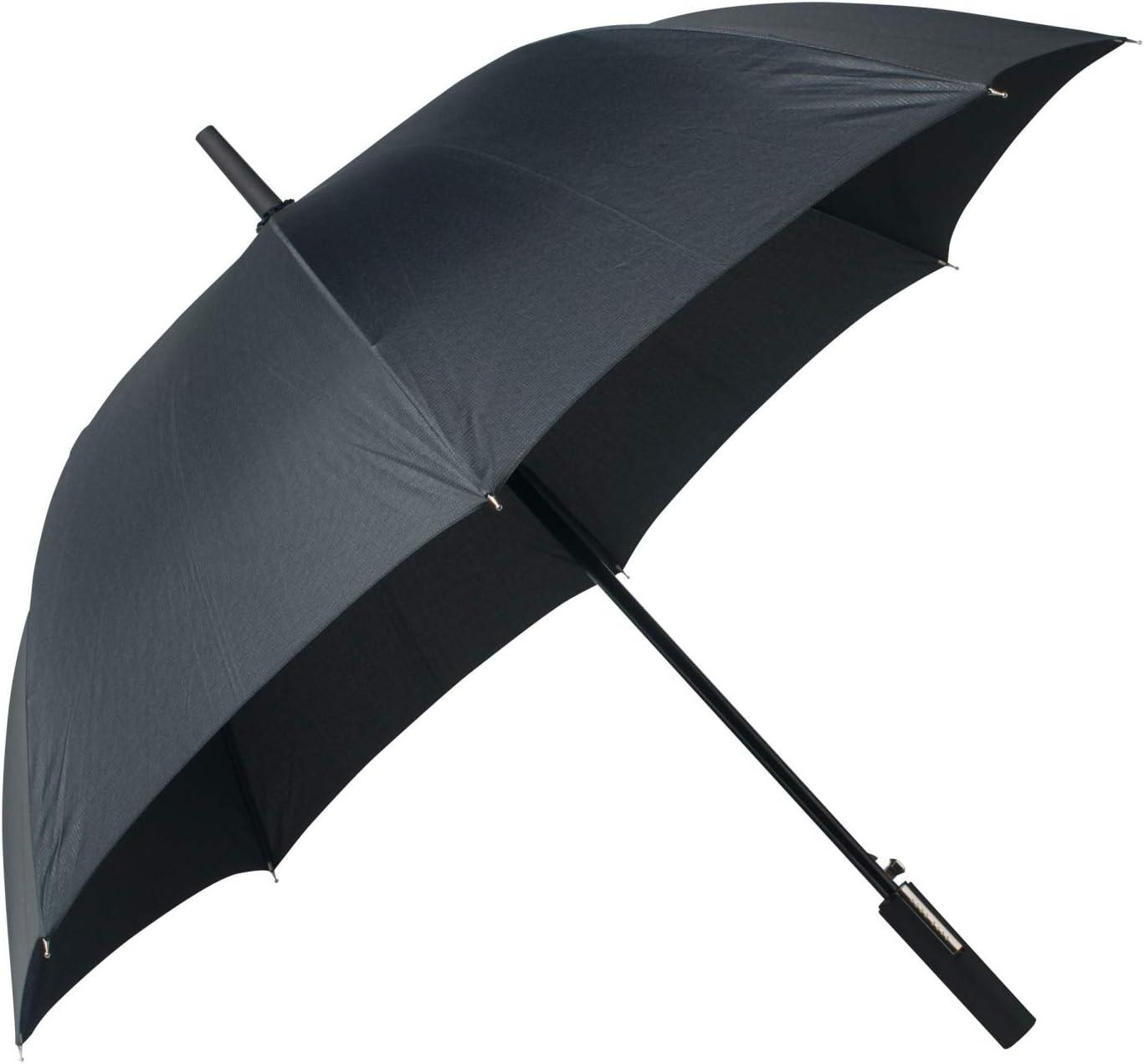 Grey 130 cm Hugo Boss Illusion Parapluie canne