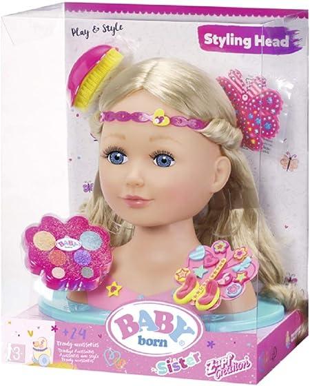 Baby Born make-up e capelli Styling Head Giocattolo Bambini Giocattolo Regalo ragazza di bellezza