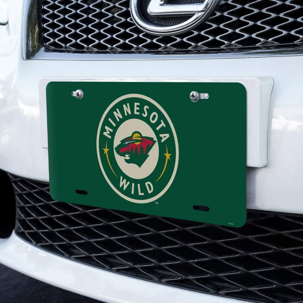 Graphics and More NHL Minnesota Wild Logo Novelty Metal Vanity Tag License Plate