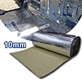 LINGDA 10.76 SqFT 10mm Heat Shield Thermal Sound Insulation Proofing Deadener Mat Car Noise Control Acoustic Dampening Moistureproof Waterproof (40inch X 40inch)