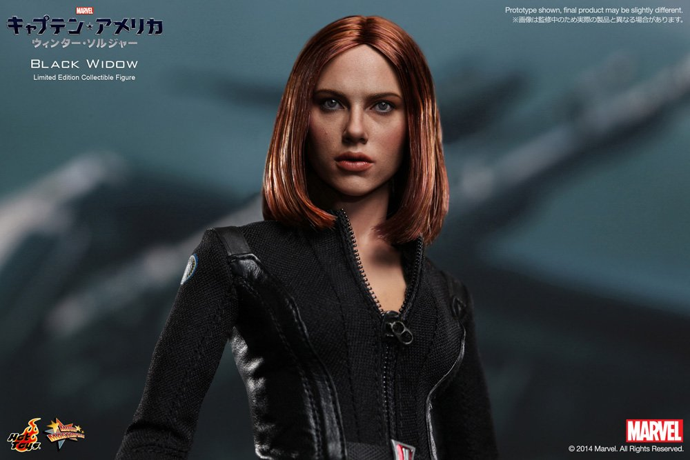 Hot Toys Movie Masterpiece Captain America: The Winter Soldier Black Widow Sixth Scale Action Figure
