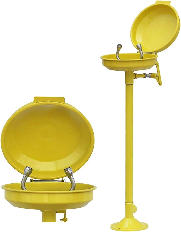 HHYGR Dispositivo lavaojos Doble con Tapa anticongelante Vertical económico Lavabo Ocular con Tapa Temperatura Ambiente de Trabajo