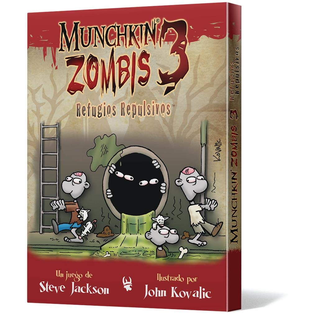 Edge Entertainment- Munchkin Zombis 3: Refugios Repulsivos ...