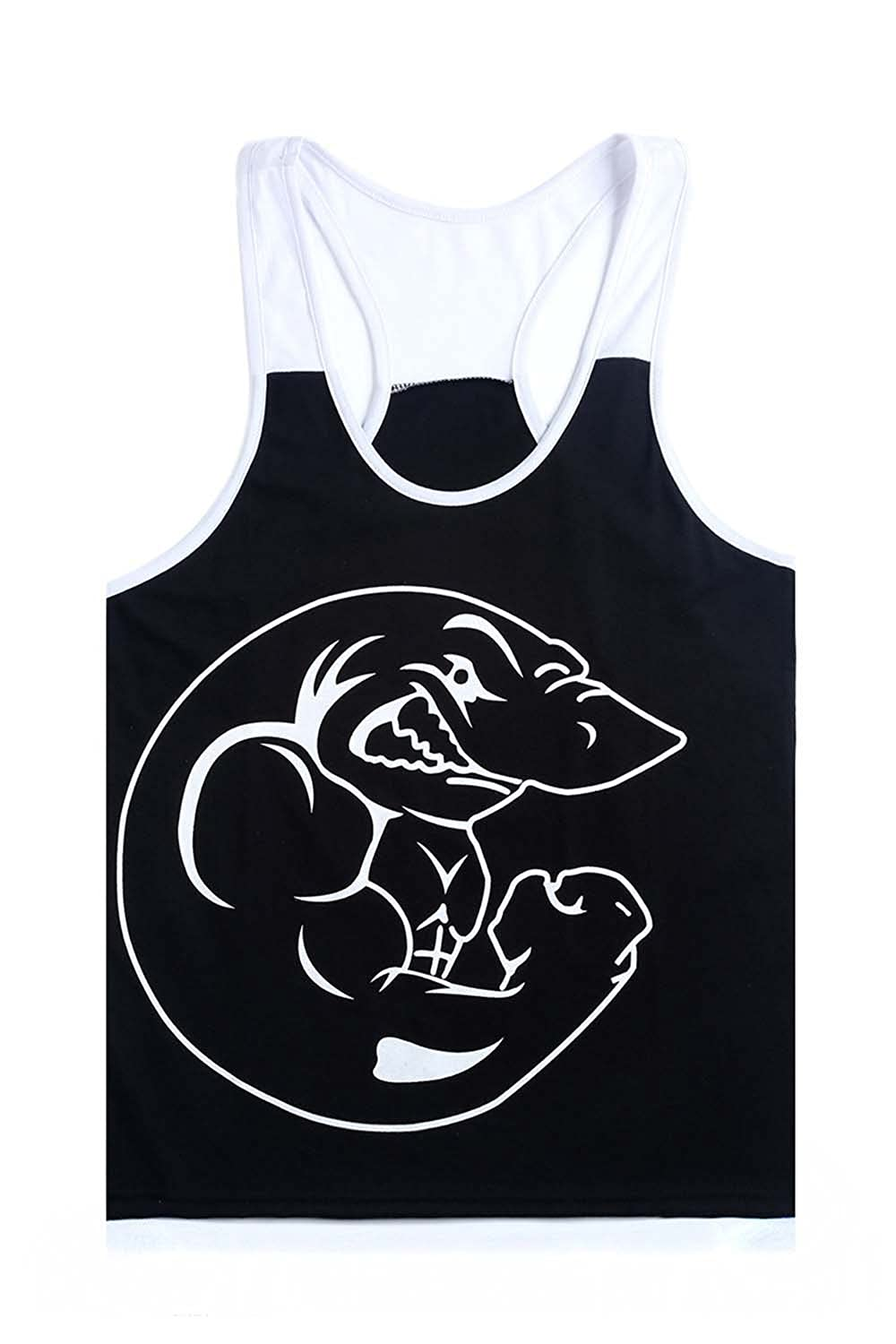 Fashion Cotton Sleeveless Shirts Tank Top Men Fitness Shirt Gym Vests