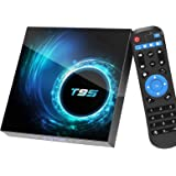 Android TV Box 10.0, Android Box with 4GB RAM 32GB ROM Allwinner Quad-core, Support 2.4GHz/5GHz Dual WiFi 6K/4K Ultra HD/ 3D/