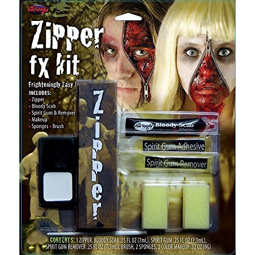 [HALLOWEEN MAKEUP FACE PAINT VAMPIRE DEVIL WITCH ZOMBIE CLOWN SET KIT FAKE COLOUR[Zipper FX Make Up Kit,] by] (Zipper Fx Kit)