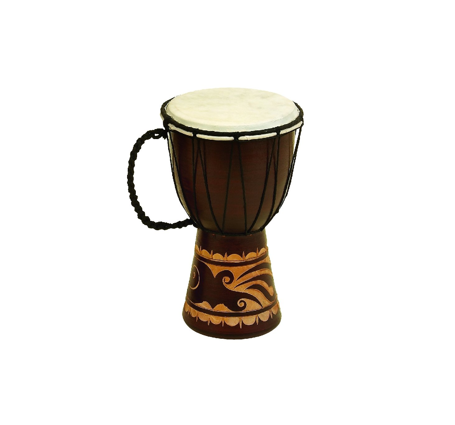 Deco 79 89848 Wood & Leather Djembe Drum by Deco 79