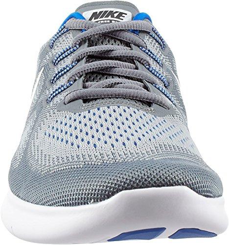 Mens Nike Free Rn 2017 Löparsko (grå / Vit / Blå, 9,5)
