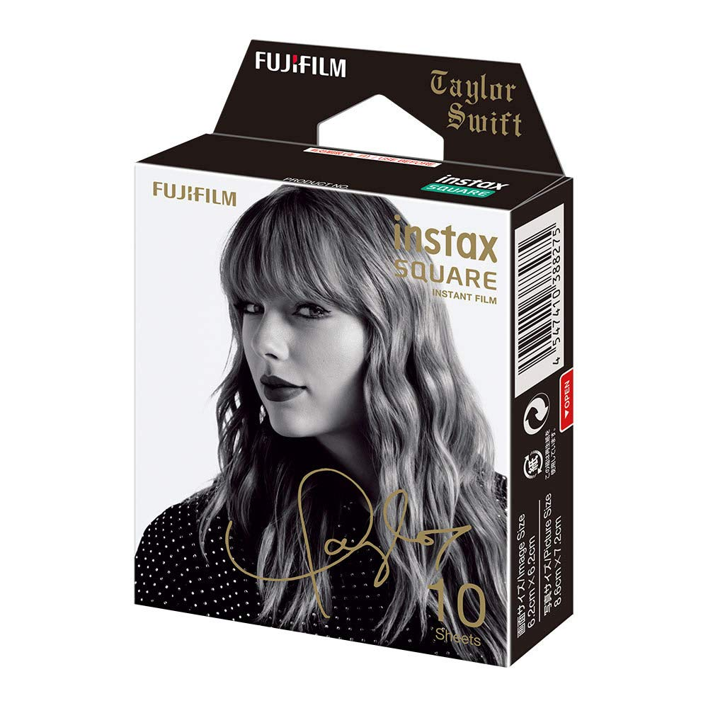 Fujifilm Instax Square Film Taylor Swift Edition (10 Exposures), Black