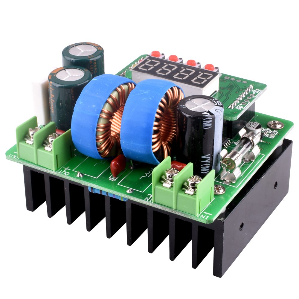 DC/DC Boost Converter, Digital-controlled Power Supply Stabilizers 6V-40V to 8V-80V Step-up Voltage Regulator 400W/10A with LED Display for Laptop and Amp Car QY02